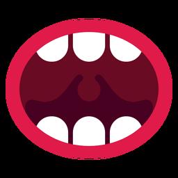 Öffnen Sie das Symbol für den Mund