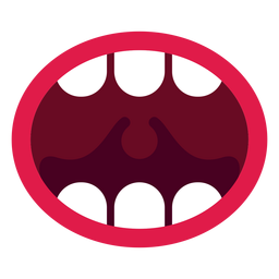 Open mouth icon
