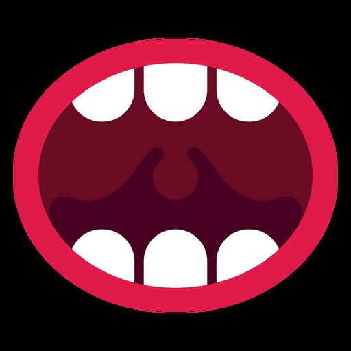 Icono de boca abierta Transparent PNG