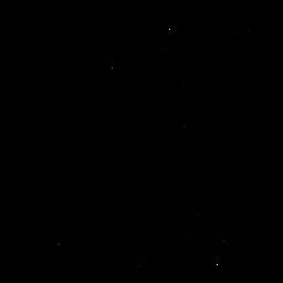 Ícone de traçado de embalagem