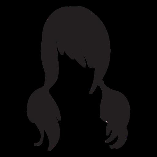 Ícone plana de cabelo de tranças Transparent PNG