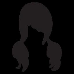 Pigtails-Haar-Symbol