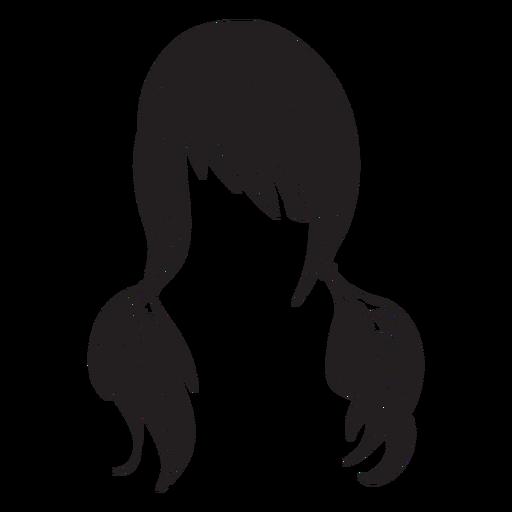 Pigtails-Haar-Symbol Transparent PNG