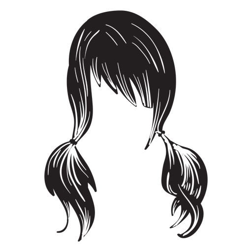 Pigtails hair icon Transparent PNG