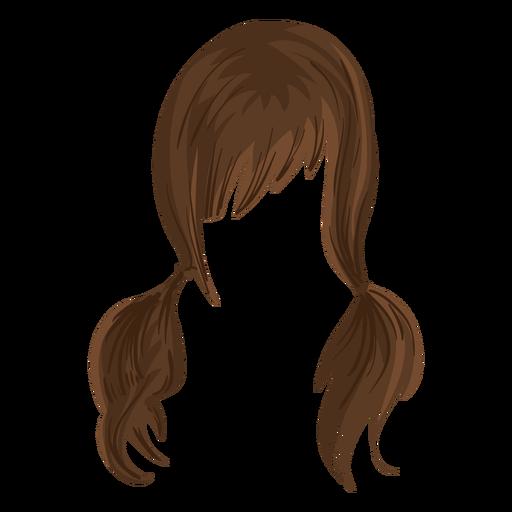 Pigtails hair illustration Transparent PNG