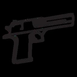 Pistola, preto branco, ícone