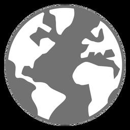 Planet Erde flach Symbol