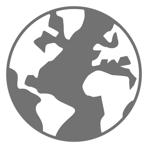 Planet earth flat icon Transparent PNG