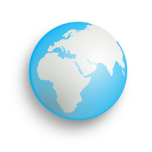 Planet earth icon Transparent PNG