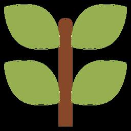 Icono de la rama de la planta