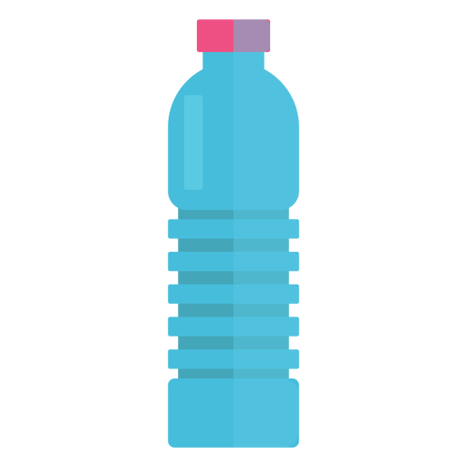 Botella de pl?stico de icono de agua