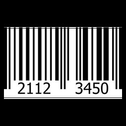 Modelo de etiqueta de código de barras do produto