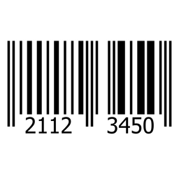 Product barcode label template