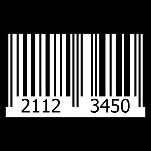 Modelo de etiqueta de código de barras do produto Transparent PNG