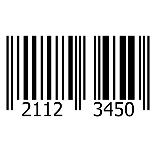 Product barcode label template Transparent PNG