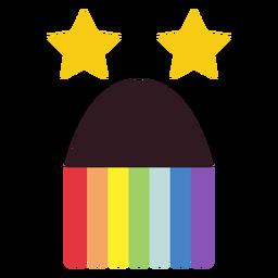 Pucking rainbow emoticon face plana