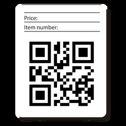 Etiqueta de código Qr con información