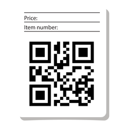 Qr code label with info