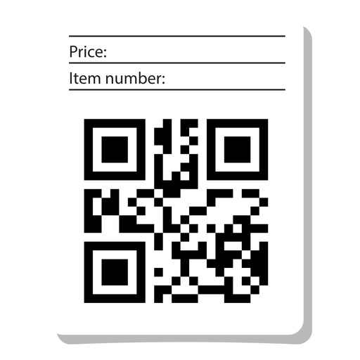 Qr code label with info Transparent PNG