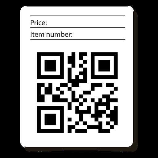 Rótulo de código Qr com informações Transparent PNG