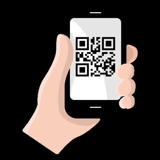 Código Qr en smartphone Transparent PNG