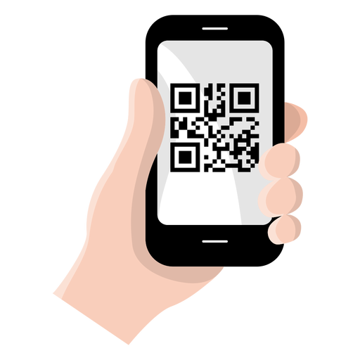 Qr code on smartphone Transparent PNG
