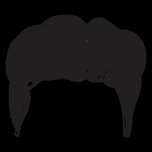 Ícone de cabelo homens Quiff Transparent PNG