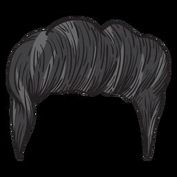 Ilustração de cabelo homens Quiff