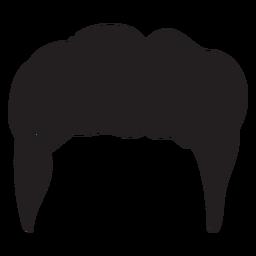 Quiff men hair silhouette