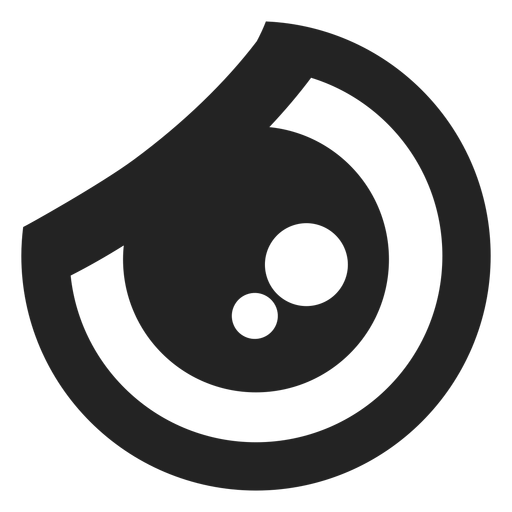 Ojo de emoticon kawaii de rabia Transparent PNG