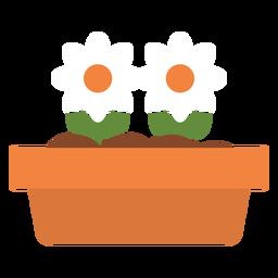 Rechteckiges Blumenkübel-Symbol
