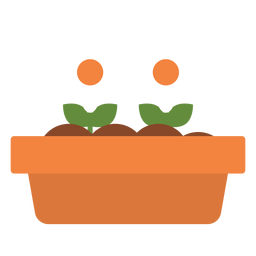 Rectangular flower planter icon
