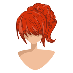 Ícone de cabelo vermelho