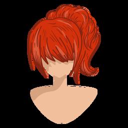 Icono de pelo rojo