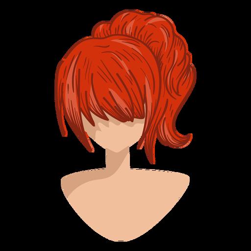 Ícone de cabelo vermelho Transparent PNG