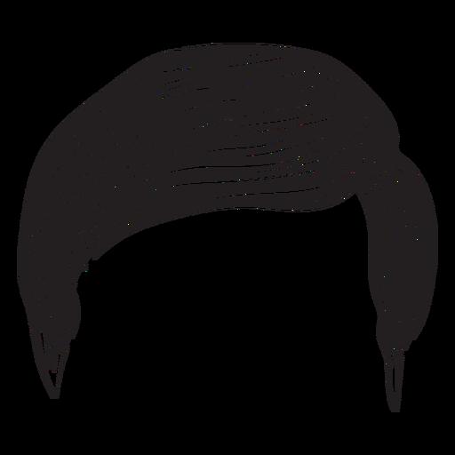 Ícone de cabelo homens regulares Transparent PNG