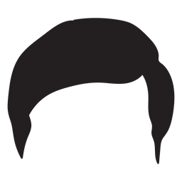 Regular men hair silhouette