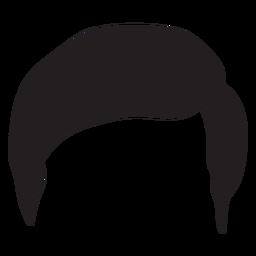 Silueta de pelo de los hombres regulares