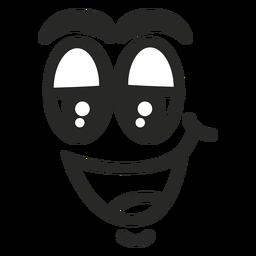 Rosto de emoticon relaxado