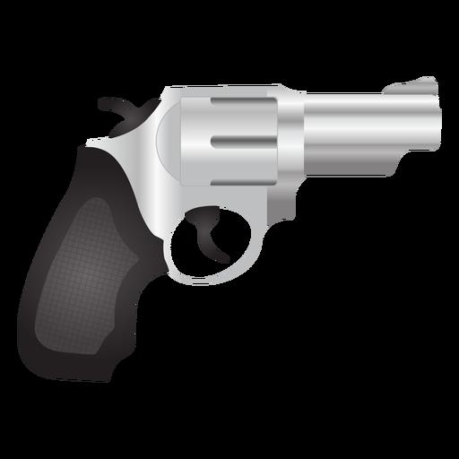 Icono detallado de revólver