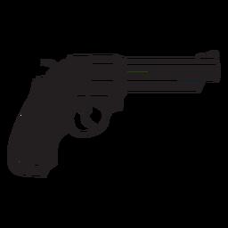 Ícone plano de revólver