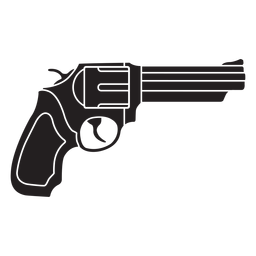 Revolver flat icon