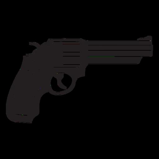 Ícone plano de revólver Transparent PNG