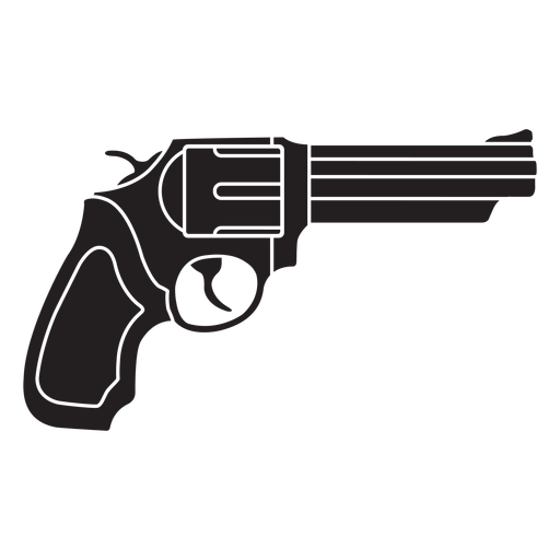 Icono plano revólver Transparent PNG