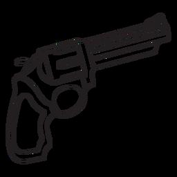 Ícone de traçado de revólver