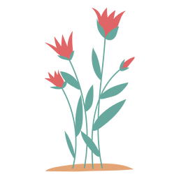 Elemento de flores rosa