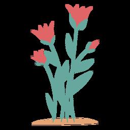 Rosa flores elemento