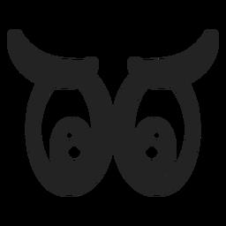 Ojos de emoticonos tristes