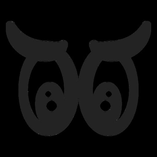 Ojos de emoticonos tristes Transparent PNG