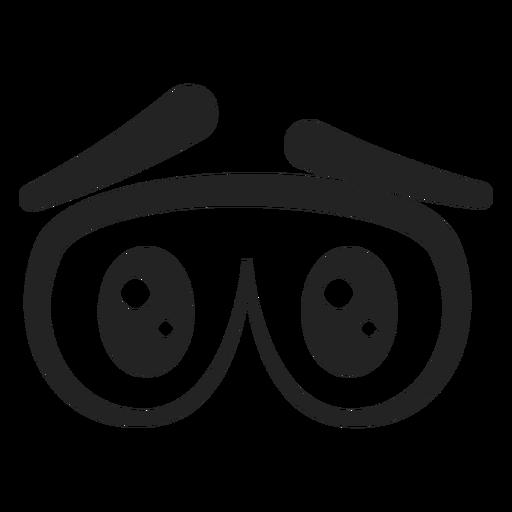 Dibujos animados de ojos de emoticon triste Transparent PNG